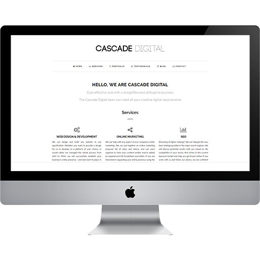 Cascade Digital - Web Design & Development Home Page