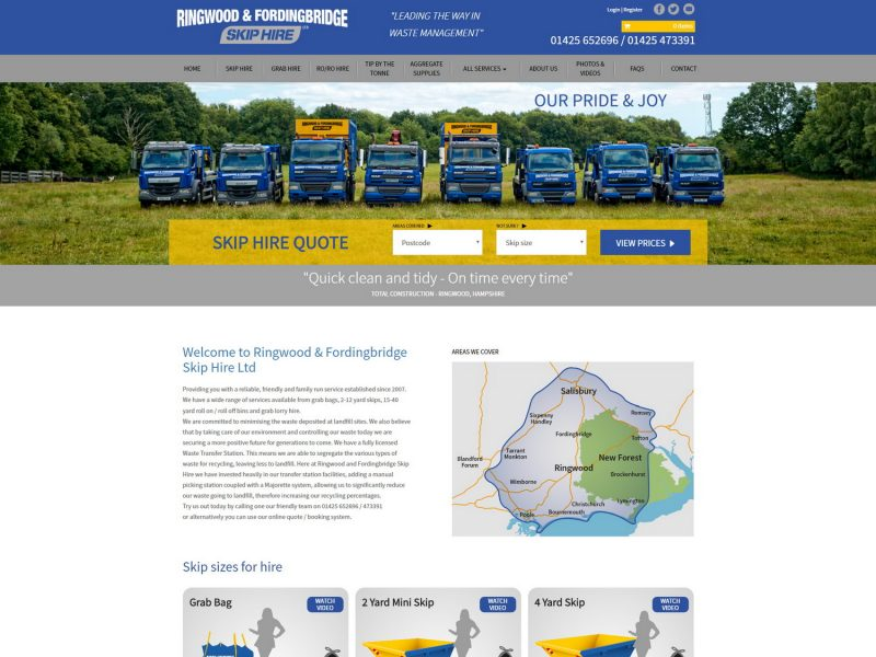 Ringwood Skip Hire - Web Design & Development