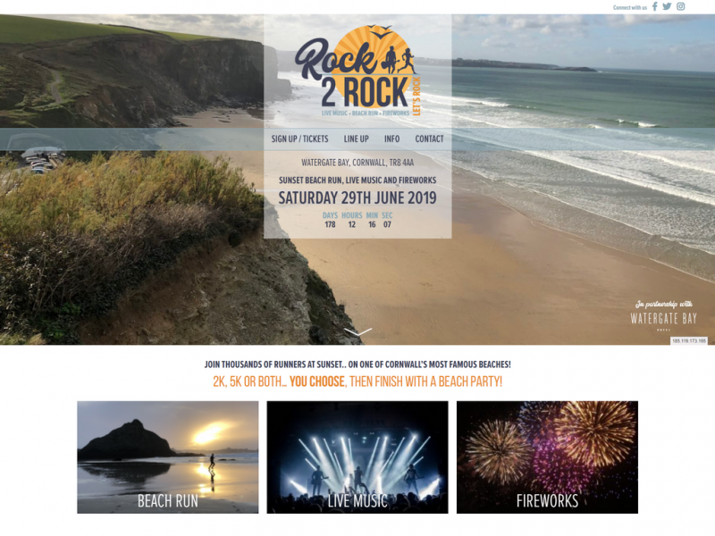 Rock2Rock – Sunset Beach Run Live Music and Fireworks